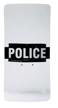 "Monadnock Peacekeeper Clear Riot Shield w/ Custom-Molded Ambidextrous Handle, 20"" x 36"""