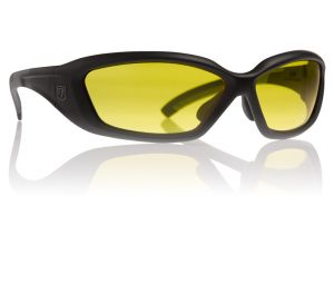 Revision Military Hellfly Ballistic Sunglasses Matte Black Frame With High-Contrast Yellow Lenses