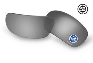 ESS 5B Replacement Lenses: Polarized Mirrored Gray