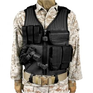 Blackhawk Omega Elite Vest Cross Draw Pistol Mag- Left hand