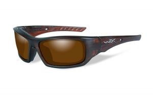 Wiley X Arrow Pol Amber Lens/Matte Layered Tortoise Frame