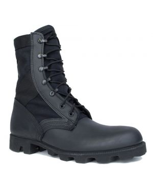 McRae Hot Weather All Black Jungle Boot with Panama Outsole