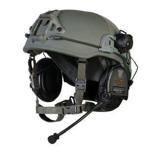 Safariland Delta X Tactical Helmet w/ TW Rails and NVG Shroud