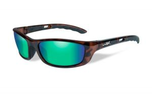 Wiley X P-17 Pol Emerald Lens/Gloss Demi Frame