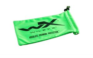 Wiley X YF Drawstring Bag, Lime Green W/WX Logo