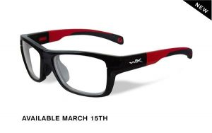 Wiley X Crush Gloss Black / Red Frame