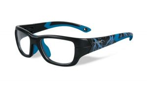 Wiley X Flash Matte Black W Lightning / Electric Blue Frame